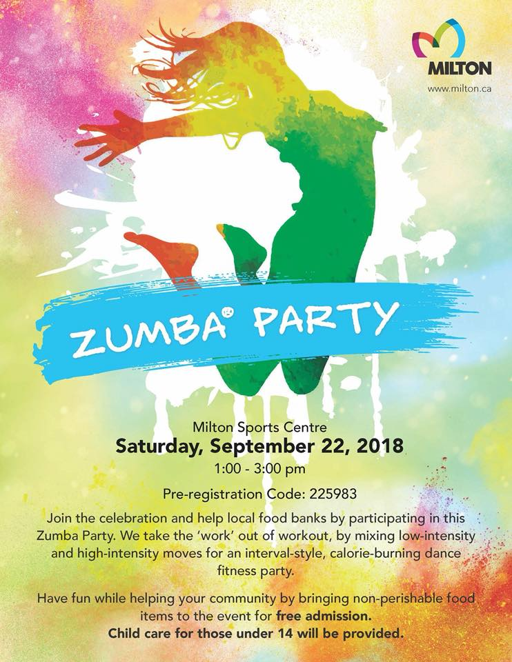 Zumba® Lovers, Miltonians, charitable souls, this one's for you